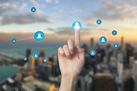 现代互联网信息城市