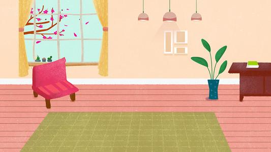 手绘卡通矢量家具