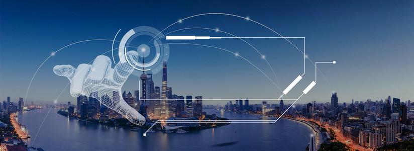 城市科技banner背景图