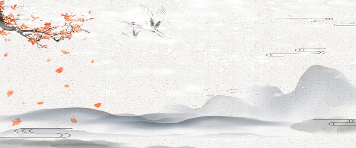 中国风水墨山水背景
