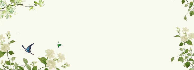 灰色创意植物花朵装饰背景