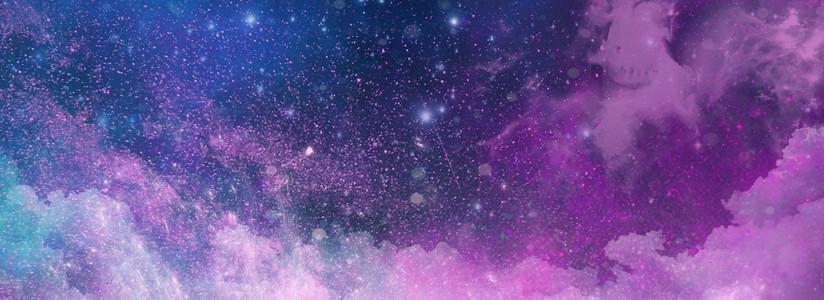 梦幻星空紫色渐变背景