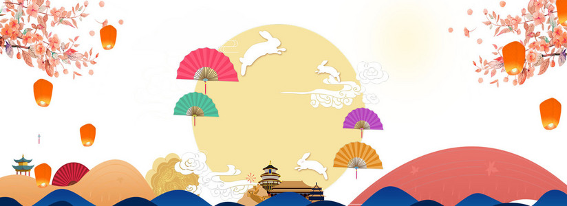 中秋佳节月饼电商海报背景