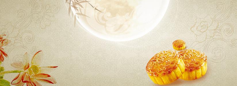 中国风中秋月饼促销折扣背景