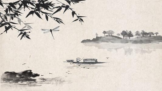 古风水墨传统背景海报