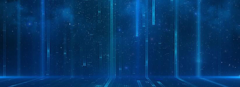 蓝色线条科技背景模板