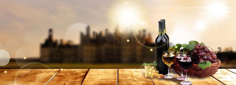 棕色葡萄庄园葡萄酒红酒品鉴背景