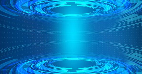 科技蓝色背景信息化