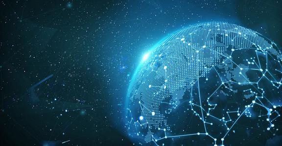 科技数据地球背景