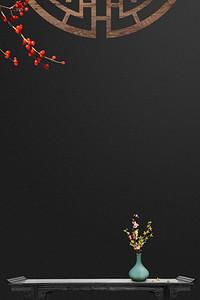 如懿传中国风古桌花瓶海报