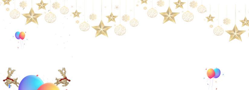 圣诞节素净海报图片