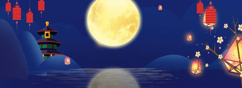 复古中国风神秘夜晚创意背景