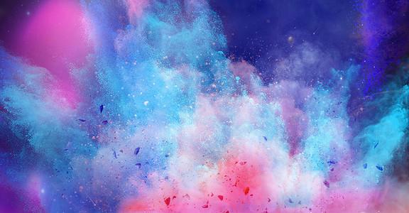 色彩液体流动海报背景