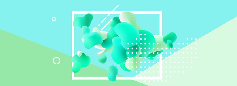 液体抽象小清新撞色几何背景