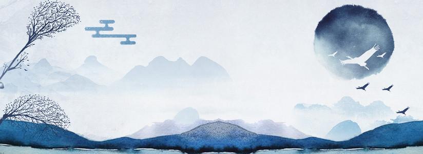 淘宝天猫电商二十四节气霜降中国风海报背景