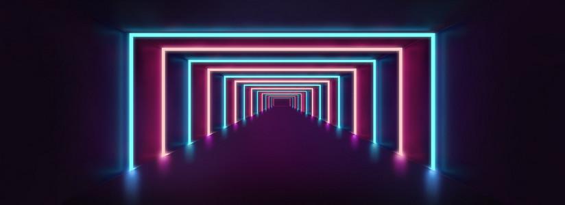 霓虹灯空间感科技