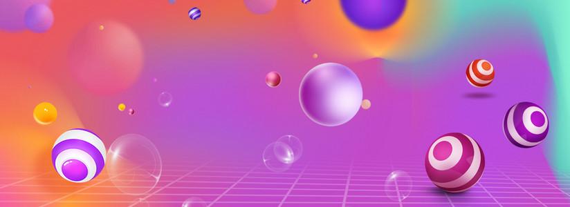 创意合成气泡电商背景