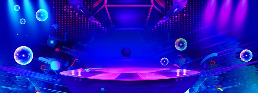 酷炫舞台双十一质感泡泡被禁