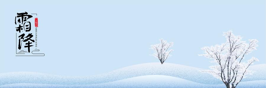 蓝色大气霜降背景模板