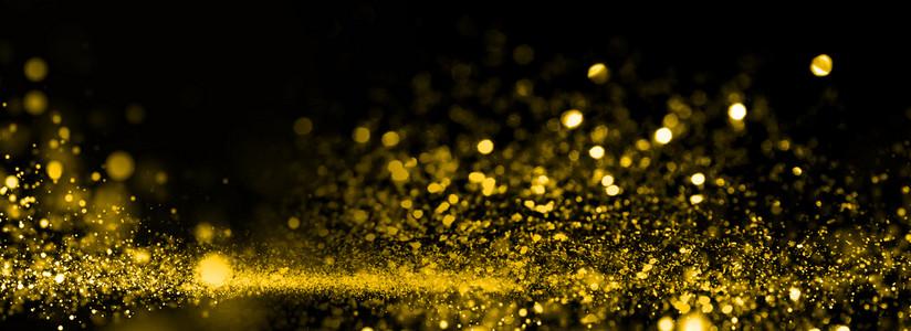 金色唯美大气商务光效背景