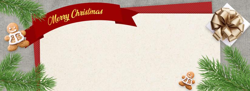 圣诞节装饰品拼接贺卡邀请函背景