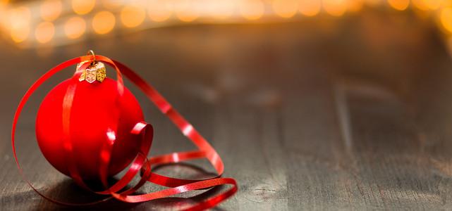 圣诞树装饰品文艺背景