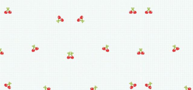卡通手绘水果格子底纹简约背景