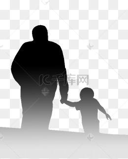 父亲和儿子卡通图片_父子背影图片-父子背影素材图片-父子背影素材图片免费下载-千 ...
