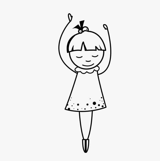 矢量简笔画跳舞的人素材图片免费下载 高清psd 千库网 图片编号9844874