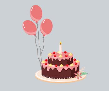 小清新双层蛋糕图片_【生日模板】_生日免费模板下载_生日模板图片大全_千库网588ku ...