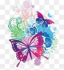 蝴蝶手绘插画