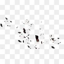 黑色木屑图案