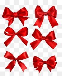 红色蝴蝶结图案