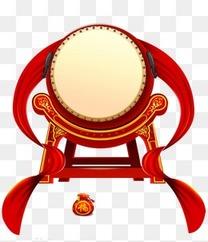 红色鼓图案