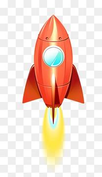 卡通扁平火箭