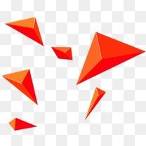 橙色漂浮元素