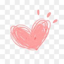 线稿爱心爱心装饰