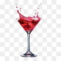 装红酒的酒杯