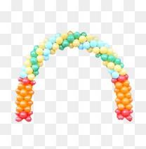 拱形彩虹气球