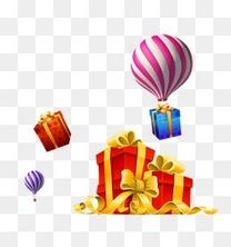 热气球丝带蝴蝶结礼物礼盒