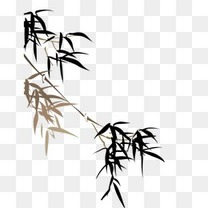 水墨竹子装饰