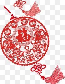 中国结福字漂浮唯美装饰