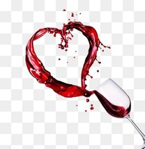 飞溅的红酒和酒杯创意装饰