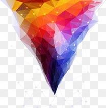 炫彩几何图案