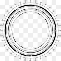 水墨花素材墨迹素材  科技感圆环