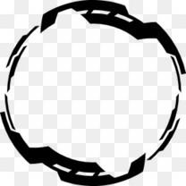 中国风水墨几何科技圆环