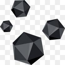 几何多边形漂浮元素