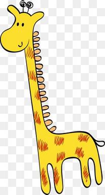 卡通可爱长颈鹿小鹿