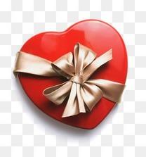 包装图片卡通素材 红色心形礼盒