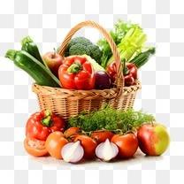 3d水果素材卡通3d素材  精美清新水果蔬菜篮子